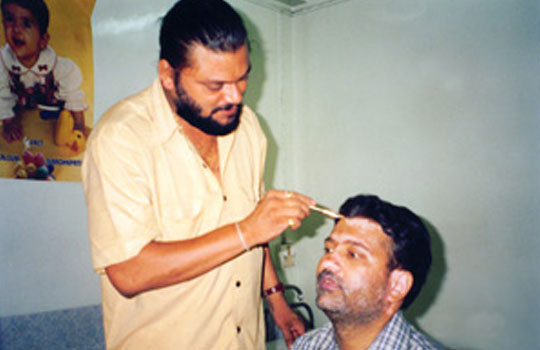 Demonstration of Cosmetic Camouflage by makeup artist - Mr. Vikram Gaikwad.