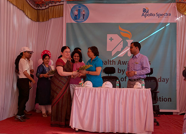 Health check-up camp - at Panditrao Agashe school, Pune